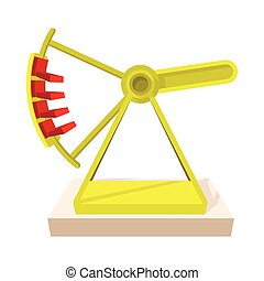 Boat carousel cartoon icon
