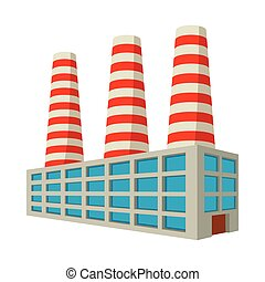 Fuel power station cartoon icon