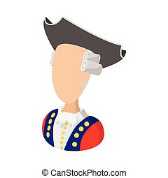 George Washington costume cartoon icon on white background