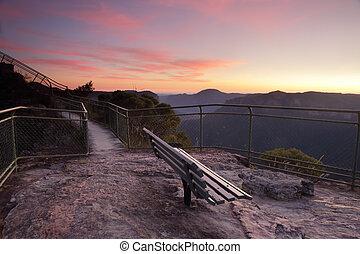 Espetacular, vistas, De, púlpito, rocha, BLACKHEATH,...