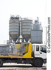 It is an oil industry equipment installation,