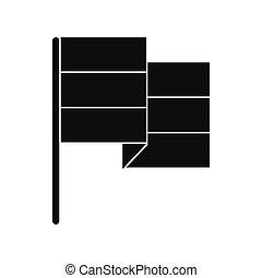 Black flag icon isolated on white background