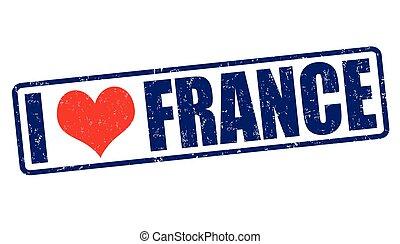 I love France stamp