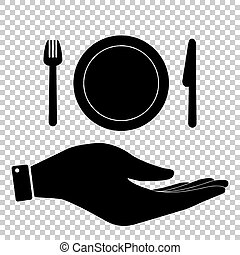Fork, plate and knife