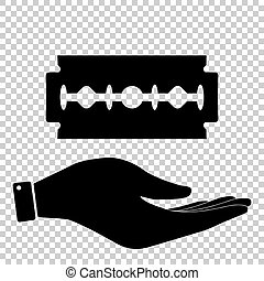 Razor blade sign Flat style icon vector illustration