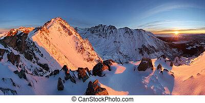 Winter mountain in Slovakia from Tatras - Solisko landscape