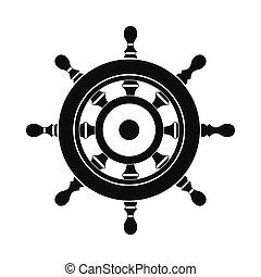 Wooden ship wheel icon