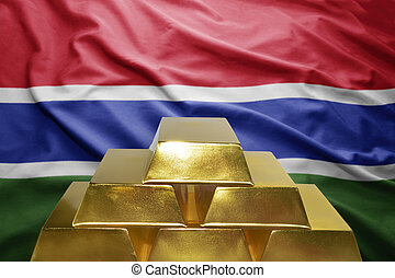 gambia gold reserves - shining golden bullions on the gambia...