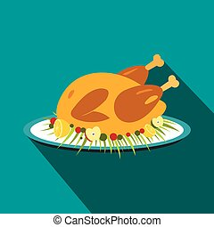 Roasted turkey icon