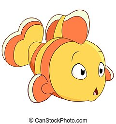cute clownfish - cute little clownfish is wondering