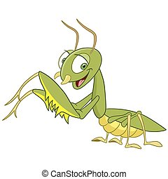 cute mantis is smiling to us