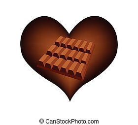 Delicious Chocolates Bar in Lovely Heart Shape