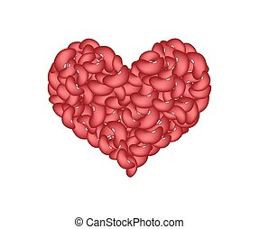 Kidney Beans Forming in A Heart Shape - Love Concept, Stack...