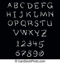 Brush stroke capital letters - Brush stroke alphabet Hand...