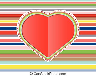 Decorative Paper Heart - Abstract decorative paper heart...