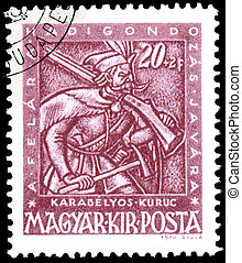Stamp printed by Hungary, shows shows Musketeer - BUDAPEST,...