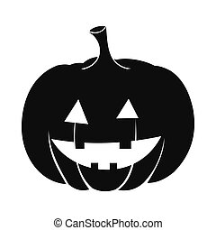 Pumpkin with a smile icon