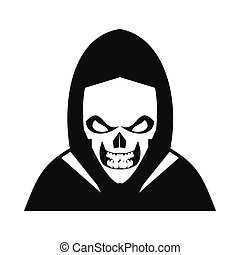 Skeleton icon black - Skeleton icon Black simple style on...