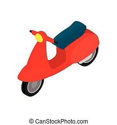 Classic Vespa scooter icon, isometric 3d style - Classic...