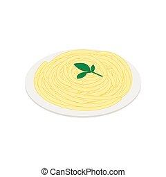 Italian pasta icon, isometric 3d style - Italian pasta icon...