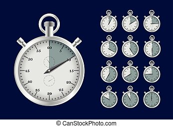 old fashioned analog stopwatch