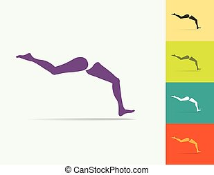 Woman Running Legs illustration