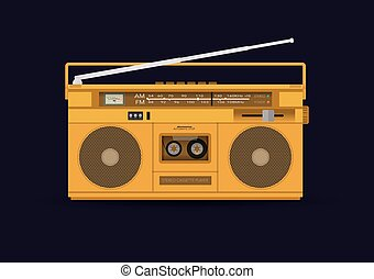 Magnetic cassette player, illustration