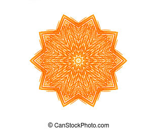 Abstract orange star shape for design