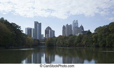 4K Time lapse Atlanta skyline - 4K Time lapse Skyline of...