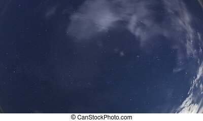 4K Time lapse night sky stars