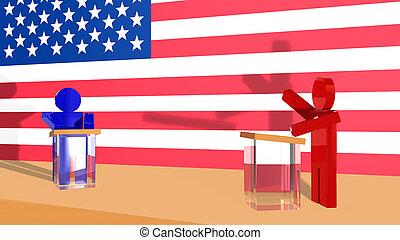 Political debate in USA