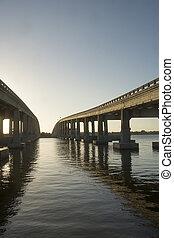 Bridges over Indian River Cocoa Beach Florida