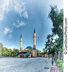 Mosque in Donetsk, Ukraine. - Beautiful sunset Mosque in...
