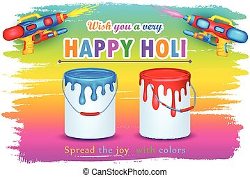 Holi celebration background - vector illustration of Holi...