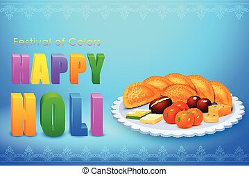 Holi celebration background - vector illustration of Holi...
