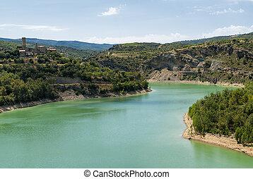 Noguera Catalunya, river - Noguera Catalunya, Spain: the...