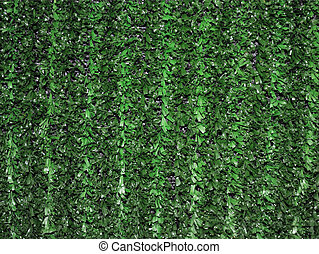 Fence - Green artifical grass hedgerow fence useful as a...