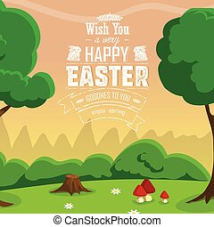 Happy Easter Card Vector illustration, EPS 10