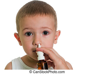 Nasal spray - Medicine nasal spray for flu and cold...