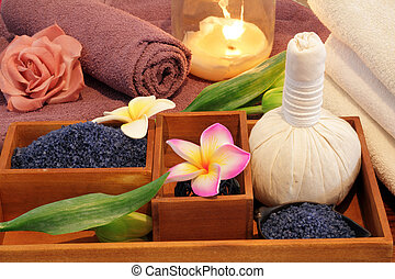 spa treatment still life with candle