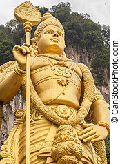 huge vishnu statue in batu caves
