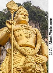 huge vishnu statue in batu caves