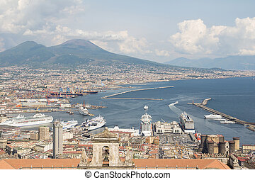 napoli bird view