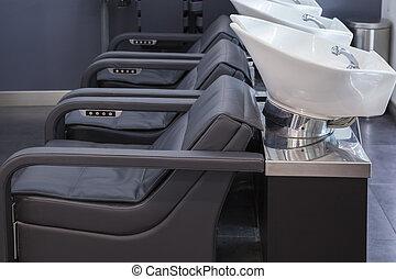 luxury beauty salon - Interior view of luxury beauty salon