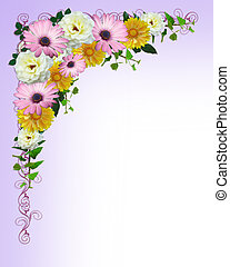 Spring flowers border template