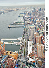 West Side Manhattan - aerial view - Aerial view of the West...
