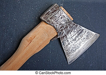 Hatchet - Sharp metal hatchet or axe wood cutting work tool