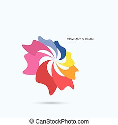 Creative abstract vector logo design template,business industrial logo icon.