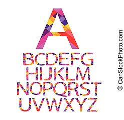 alphabet paper vector color