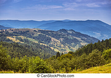 Carpathians - view of the mountains in Carpathians, Ukraine...